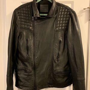 All Saints Jackets & Coats - ALLSAINTS Mens Catch Biker Leather Jacket